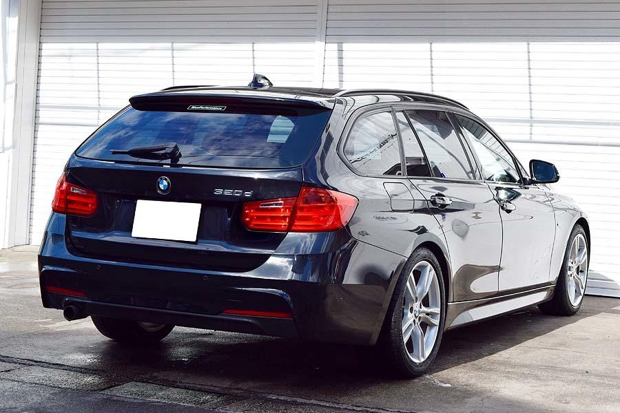 「車検R4年7月 毎日高速使用の1台 正規ディーラー車 ディーラー記録多数有 BMW320dツーリング ブルーパフォーマンス Mスポーツ ブラック」の画像2