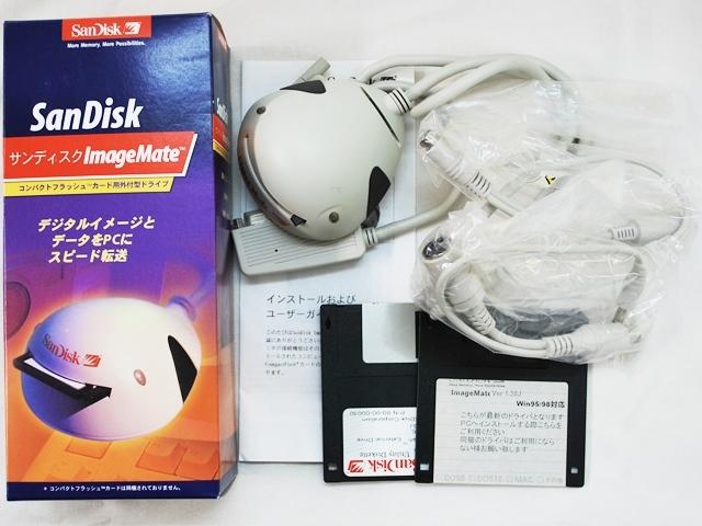 【ジャンク】IOデータ ポータブルFDD USB-FDX1 / サンディスク コンパクトフラッシュカード用外付型ドライブ 動作未確認_画像2