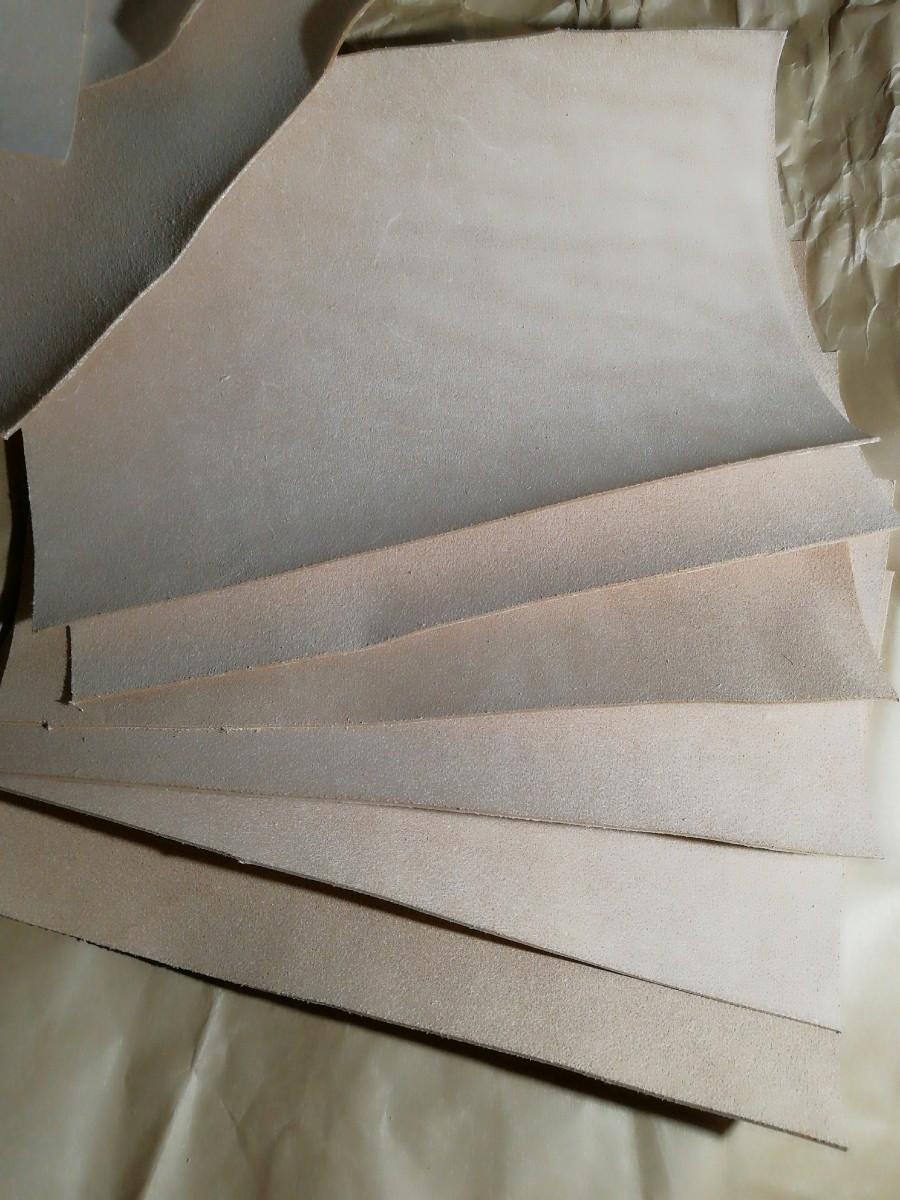 【レザークラフト用】牛ヌメ革の床革6枚③