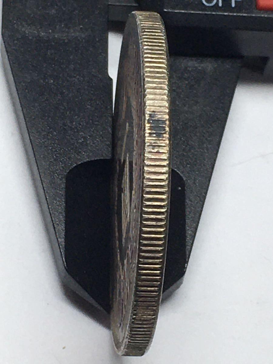 ES5-305 明治八年一円銀貨 日本古銭 量目26.45_画像4