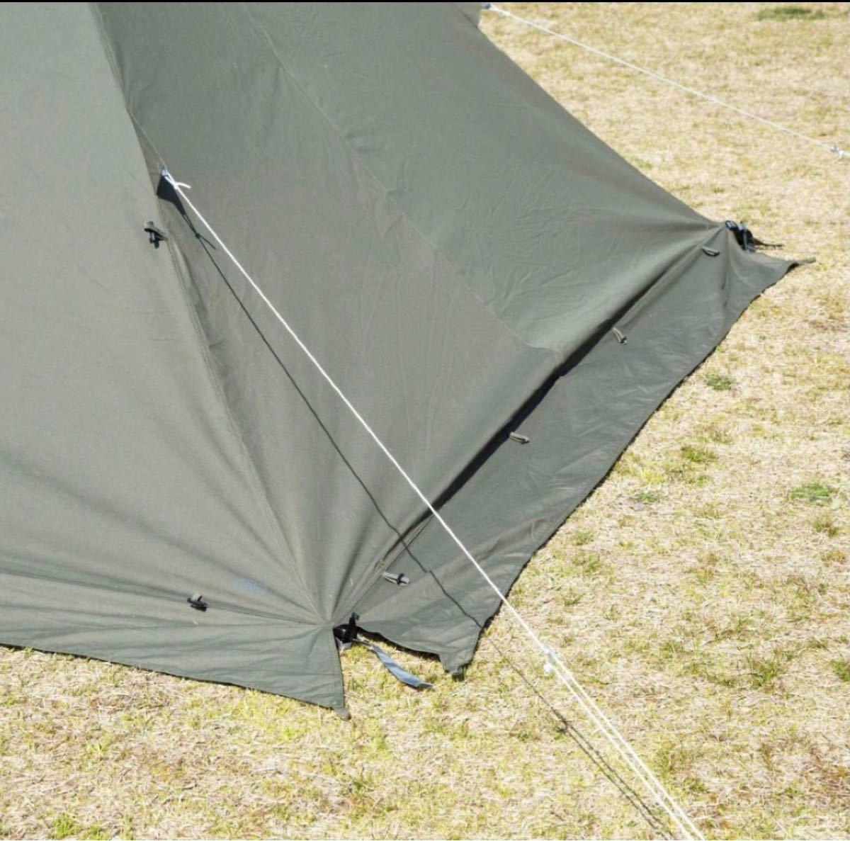 ソロティピー型 テント ワンポールテント アウトドア キャンプ バンドック