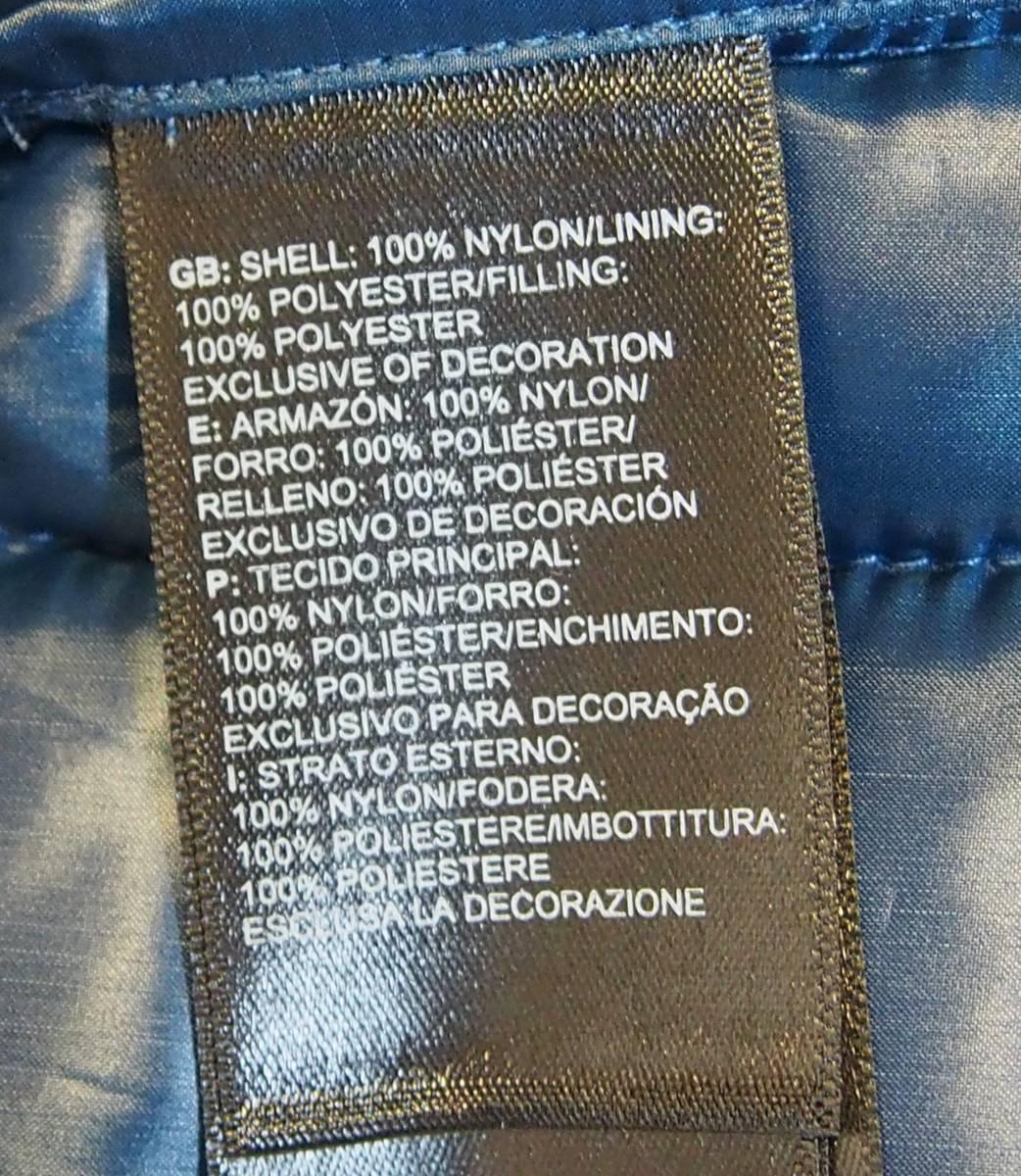 【USA購入、未使用タグ付】ノースフェイス レディース(メンズ可) 中綿ベスト M ブルー×ブラック The North Face Thermoball Eco Vest_画像8