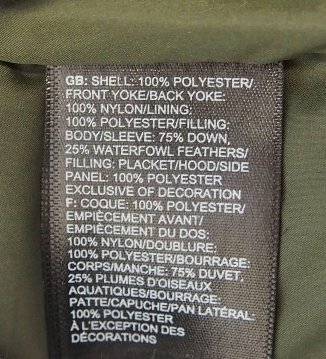 【USA購入、未使用タグ付】ノースフェイス Balham ダウンジャケット メンズ M グリーン Balham Down Jacket NEW TAUPE GREEN MATTE_画像7