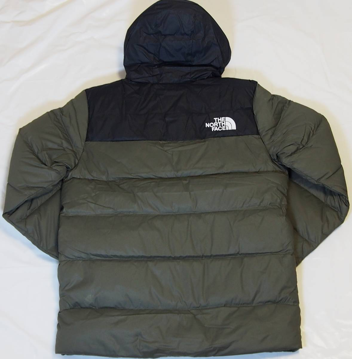 【USA購入、未使用タグ付】ノースフェイス UX ダウンジャケット M グリーン The North Face UX Down Parka TNF BLACK/NEW TAUPE GREEN_画像3