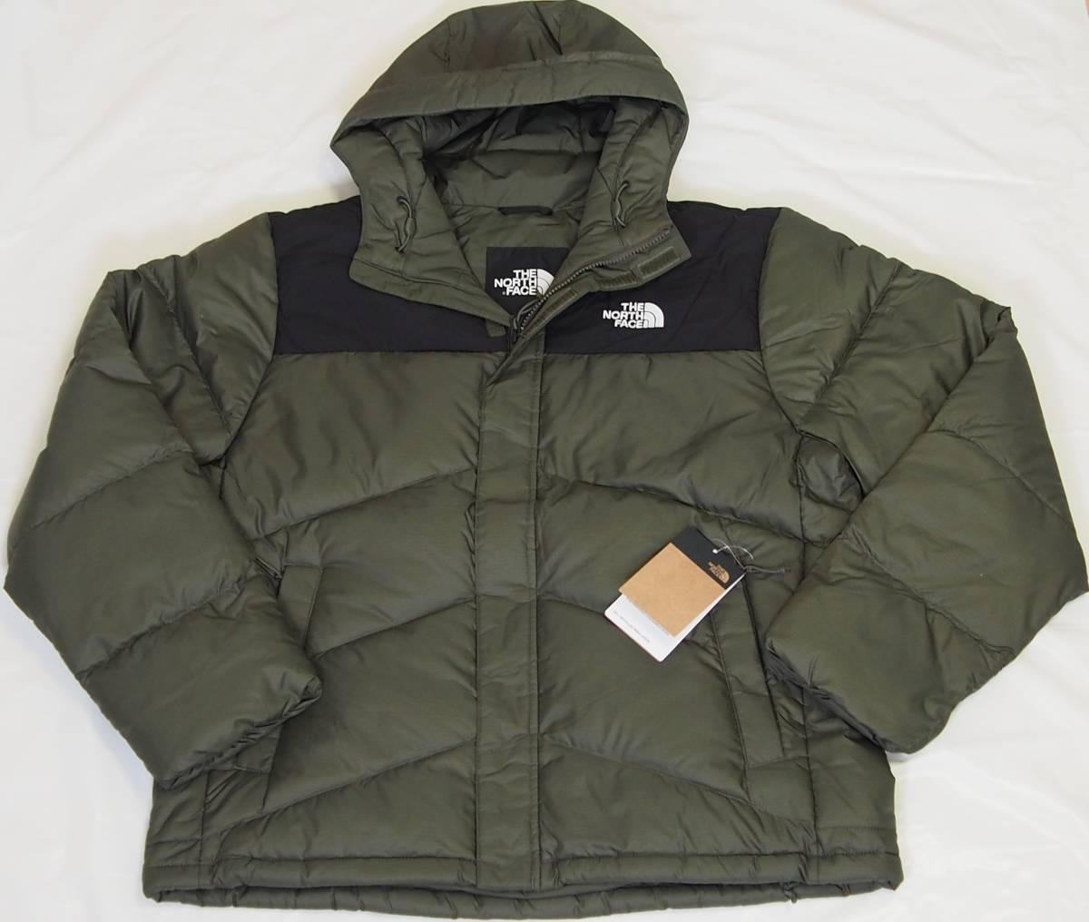 【USA購入、未使用タグ付】ノースフェイス Balham ダウンジャケット メンズ L グリーン Balham Down Jacket NEW TAUPE GREEN MATTE_画像1