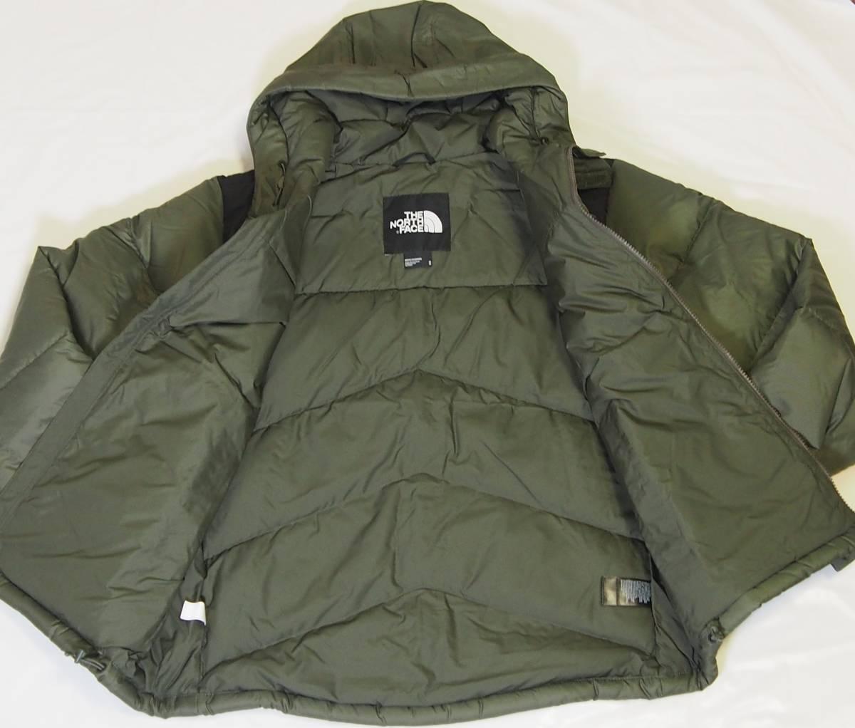 【USA購入、未使用タグ付】ノースフェイス Balham ダウンジャケット メンズ M グリーン Balham Down Jacket NEW TAUPE GREEN MATTE_画像5
