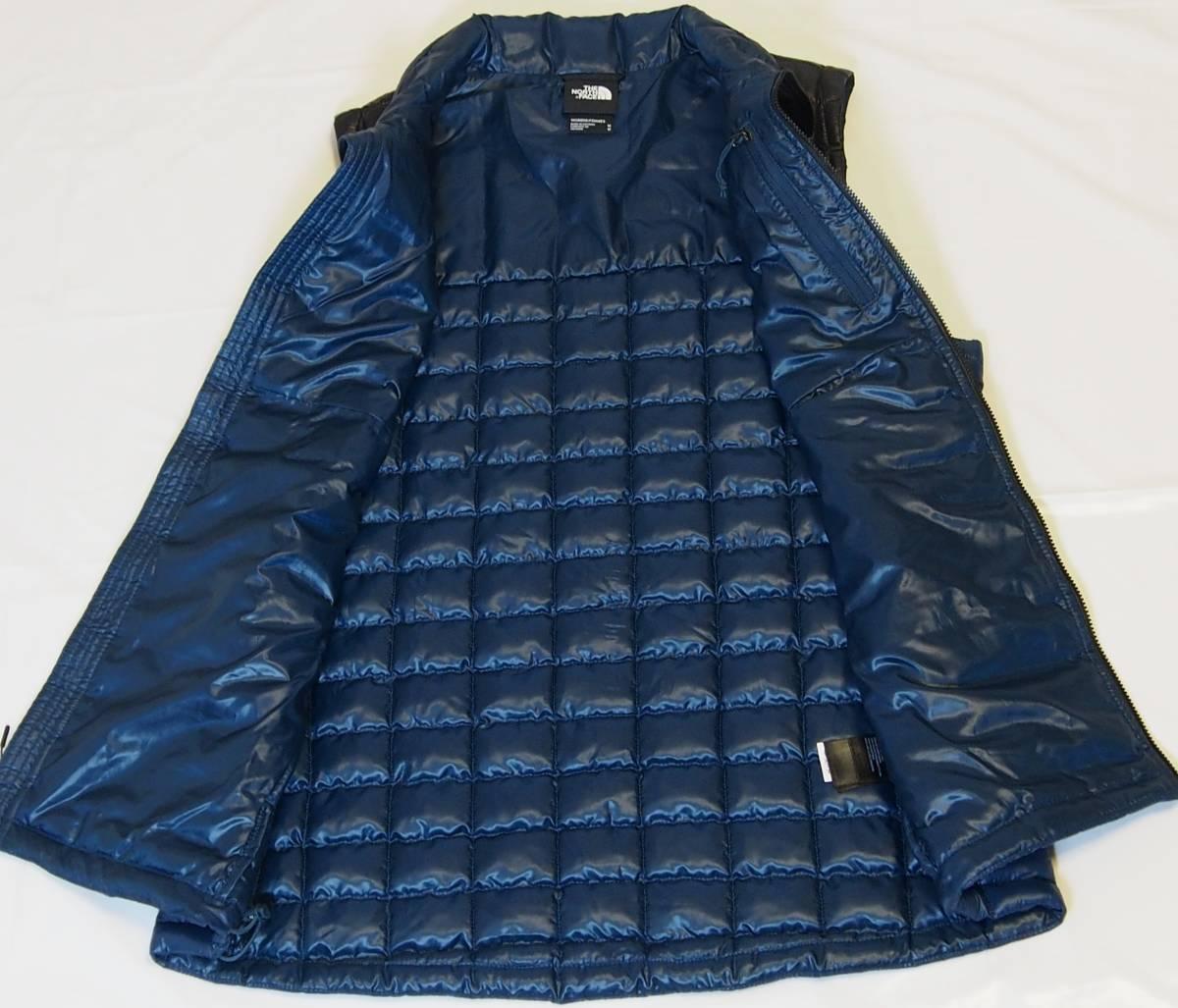 【USA購入、未使用タグ付】ノースフェイス レディース(メンズ可) 中綿ベスト M ブルー×ブラック The North Face Thermoball Eco Vest_画像5