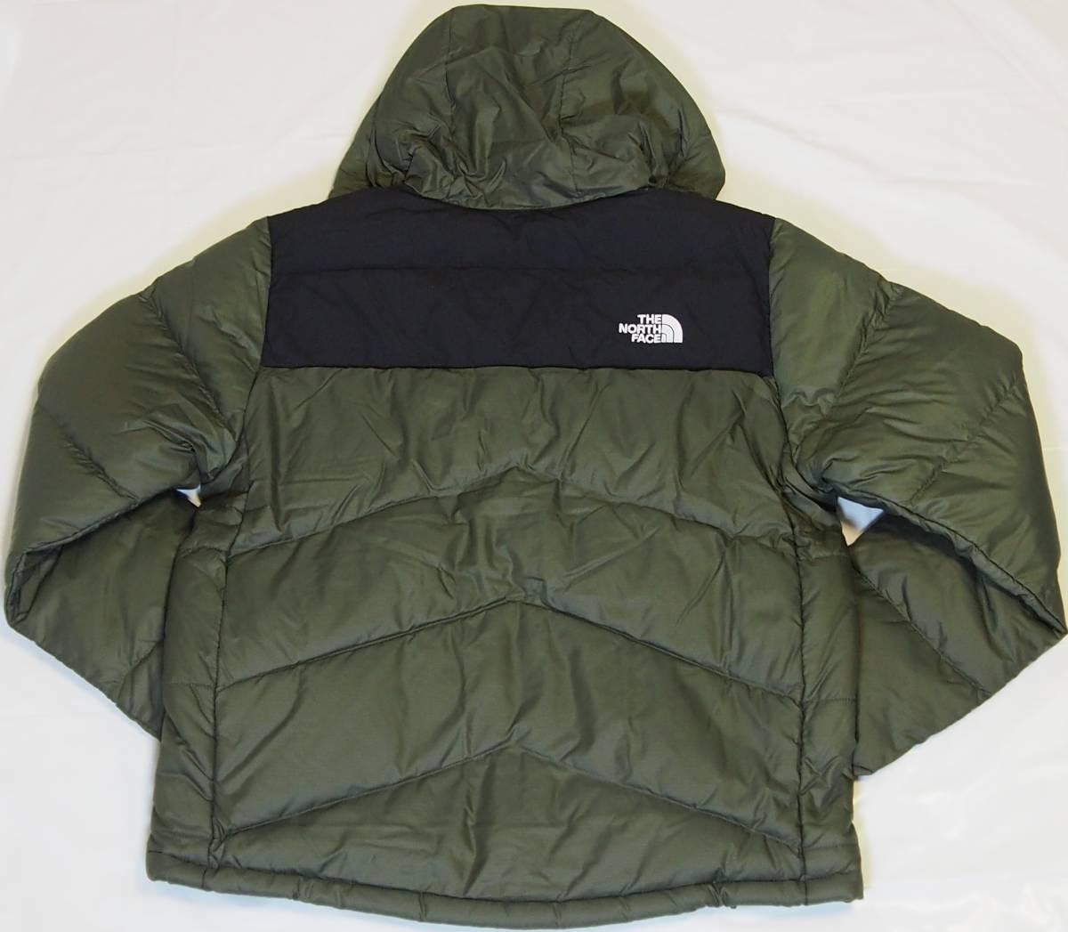 【USA購入、未使用タグ付】ノースフェイス Balham ダウンジャケット メンズ M グリーン Balham Down Jacket NEW TAUPE GREEN MATTE_画像3