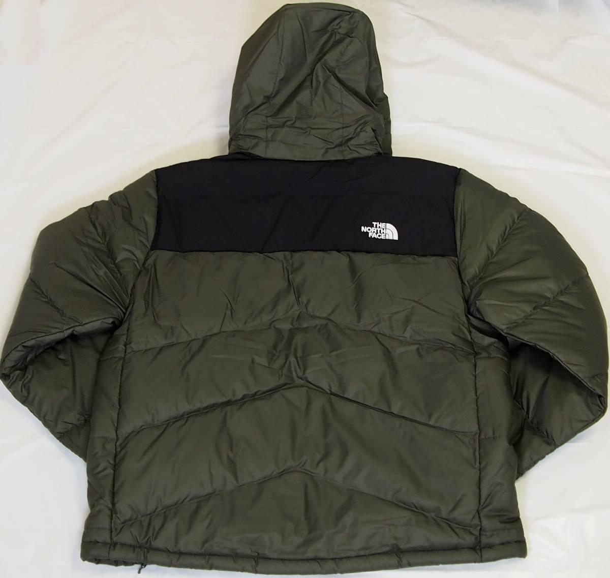 【USA購入、未使用タグ付】ノースフェイス Balham ダウンジャケット メンズ L グリーン Balham Down Jacket NEW TAUPE GREEN MATTE_画像3