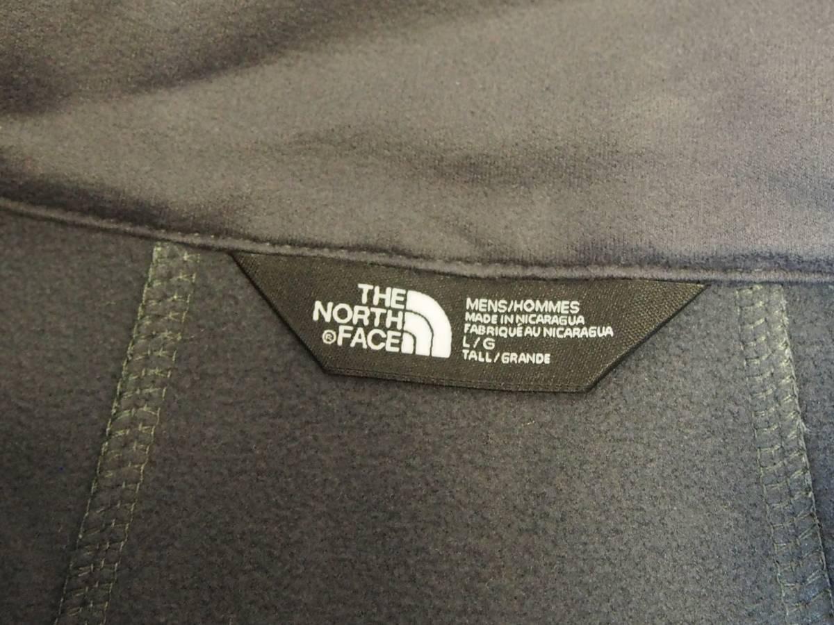 【USA購入、未使用タグ付】ノースフェイス ソフトシェルジャケット グレー (L/Tall FIT) The North Face Apex Bionic 2 Softshell Jacket_画像7