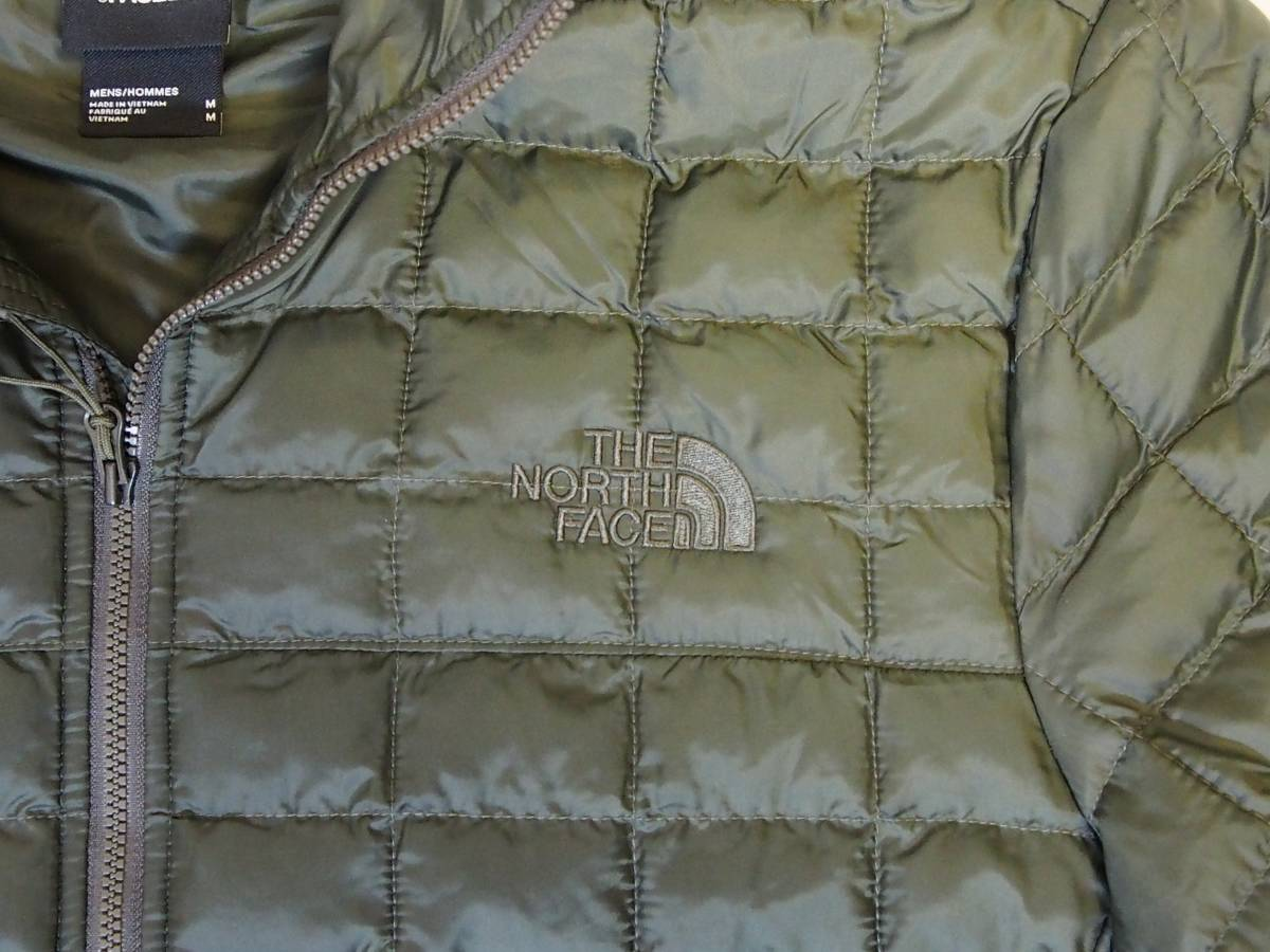 【USA購入、未使用タグ付】ノースフェイス メンズ Thermoball Eco ジャケット フード付 M グリーン The North Face NEW TAUPE GREEN Hoodie_画像2
