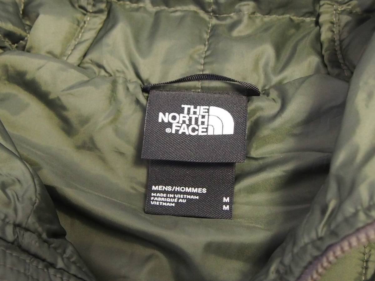 【USA購入、未使用タグ付】ノースフェイス メンズ Thermoball Eco ジャケット フード付 M グリーン The North Face NEW TAUPE GREEN Hoodie_画像5