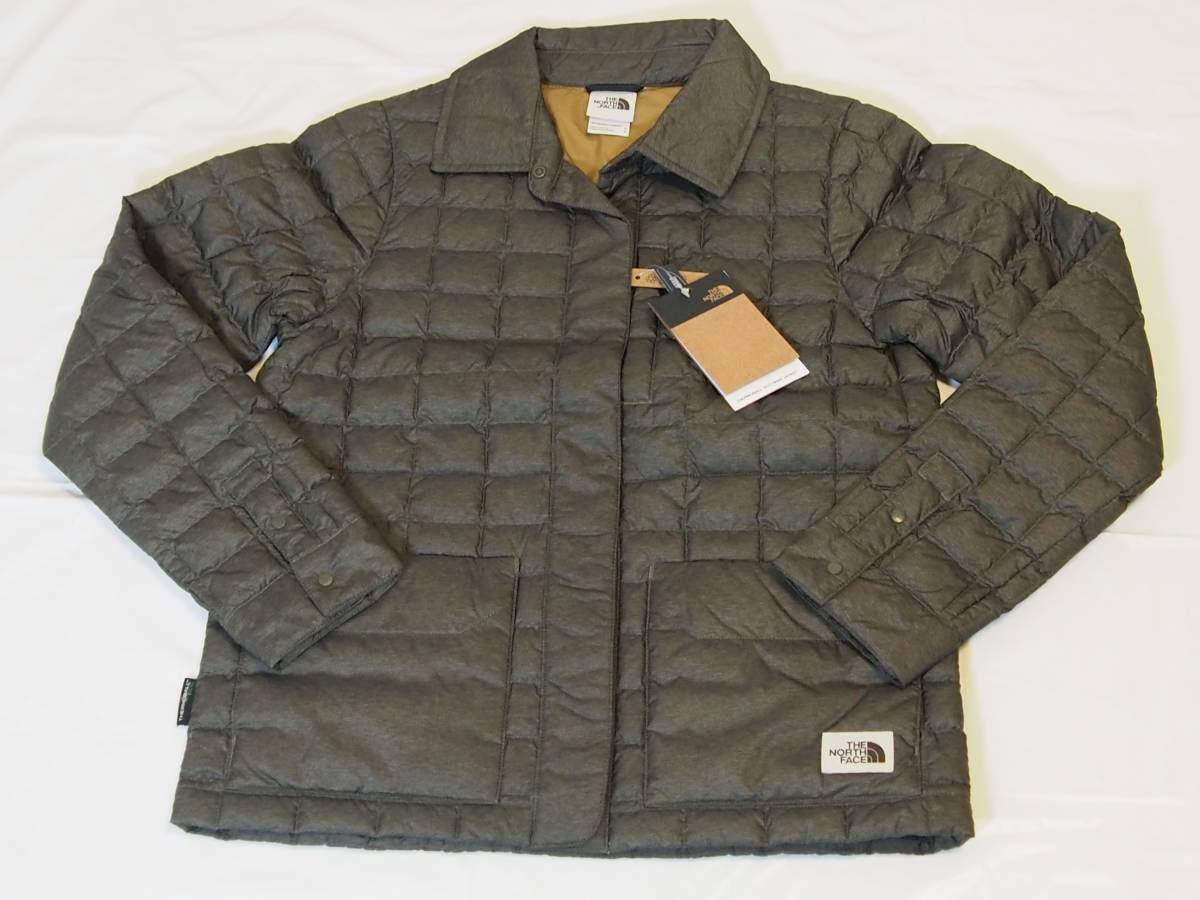 【USA購入、未使用タグ付】ノースフェイス レディース ThermoBall ジャケット S グリーン系 The North Face ThermoBall Eco Snap Jacket_画像1