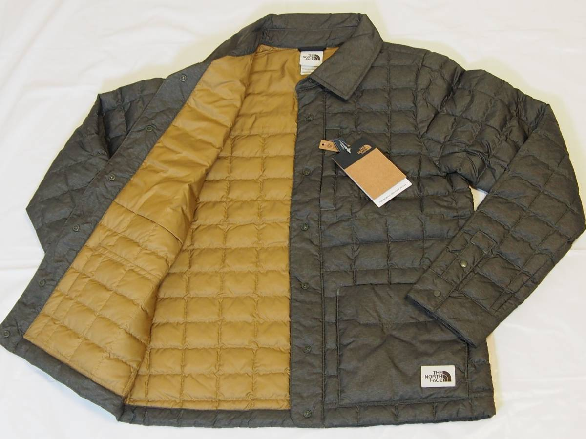 【USA購入、未使用タグ付】ノースフェイス レディース ThermoBall ジャケット S グリーン系 The North Face ThermoBall Eco Snap Jacket_画像4