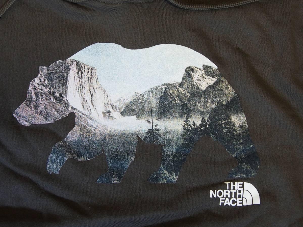 【USA購入、未使用タグ付】ノースフェイス パーカー カリフォルニアベア L グリーン系 The North Face Bearinda Hoodie New Taupe Green_画像2