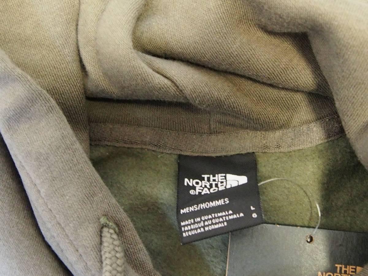 【USA購入、未使用タグ付】ノースフェイス パーカー カリフォルニアベア L グリーン系 The North Face Bearinda Hoodie New Taupe Green_画像4