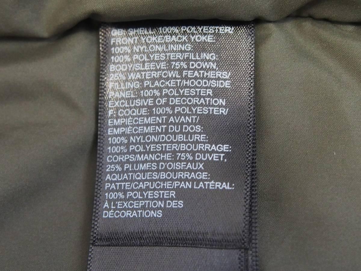 【USA購入、未使用タグ付】ノースフェイス Balham ダウンジャケット メンズ L グリーン Balham Down Jacket NEW TAUPE GREEN MATTE_画像8