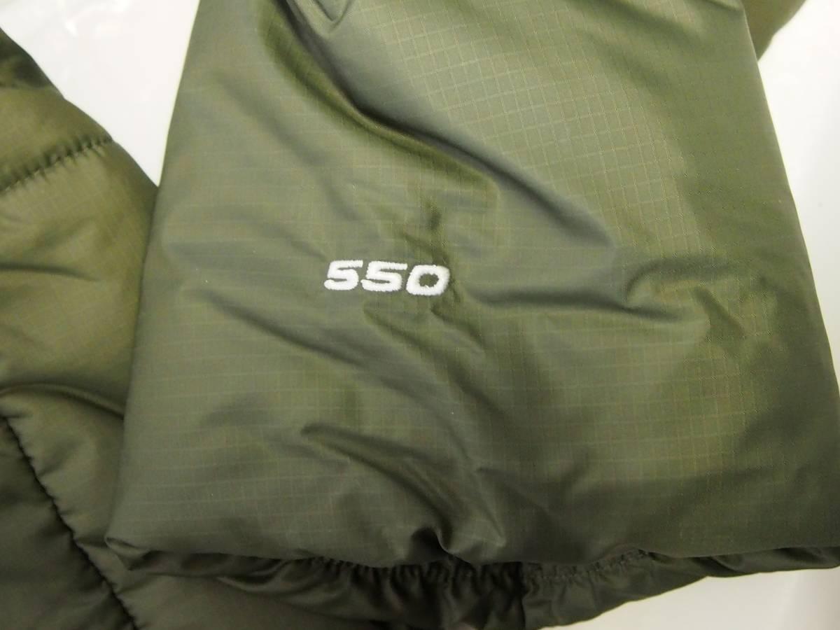 【USA購入、未使用タグ付】ノースフェイス Balham ダウンジャケット メンズ M グリーン Balham Down Jacket NEW TAUPE GREEN MATTE_画像6