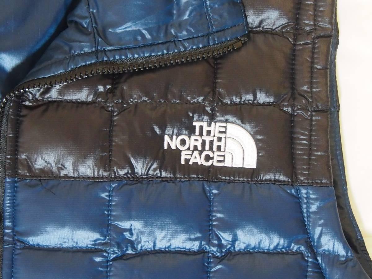 【USA購入、未使用タグ付】ノースフェイス レディース(メンズ可) 中綿ベスト M ブルー×ブラック The North Face Thermoball Eco Vest_画像2