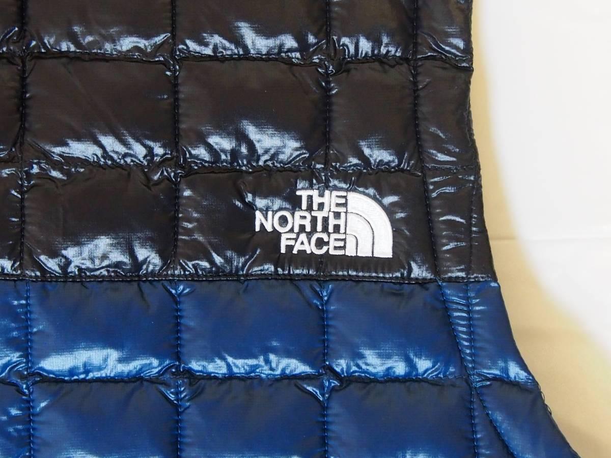 【USA購入、未使用タグ付】ノースフェイス レディース(メンズ可) 中綿ベスト M ブルー×ブラック The North Face Thermoball Eco Vest_画像4