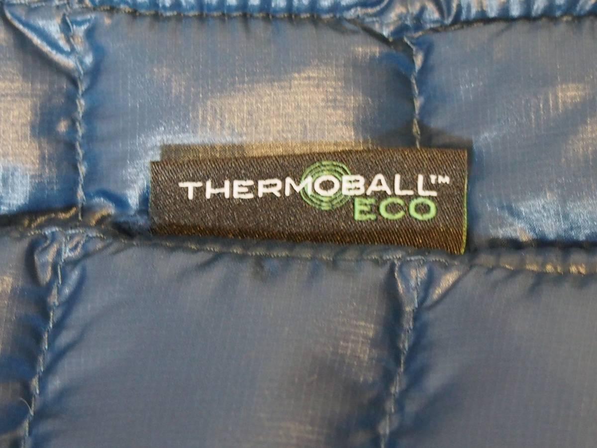 【USA購入、未使用タグ付】ノースフェイス レディース(メンズ可) 中綿ベスト M ブルー×ブラック The North Face Thermoball Eco Vest_画像7