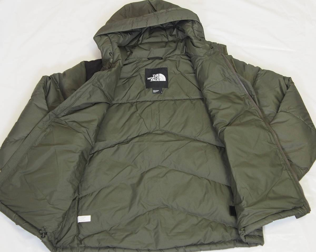 【USA購入、未使用タグ付】ノースフェイス Balham ダウンジャケット メンズ L グリーン Balham Down Jacket NEW TAUPE GREEN MATTE_画像5