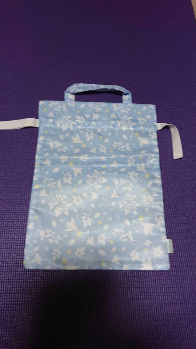 トートバッグ エコバッグ 水色 ナイロン性 撥水素材 防水素材 手さげバッグ 未使用 送料無料