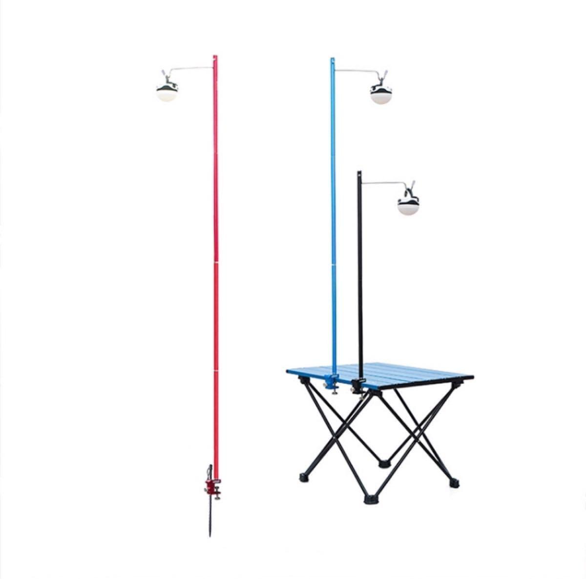 ランタンスタンド  テーブルと地面両用 ランタンハンガー 高強度アルミ レッド