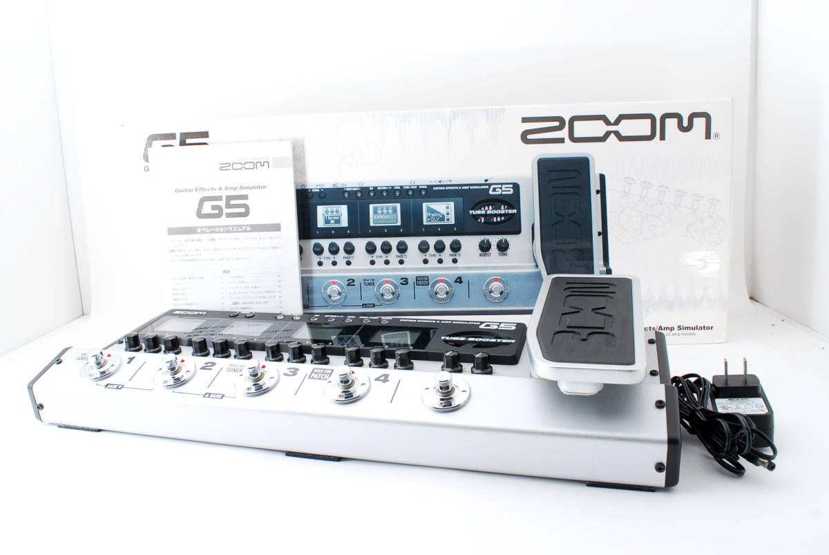 Zoom ズーム G5 Guitar Multi & Amp Simulator ACアダプタ ボックス付 [美品] #708916_画像1
