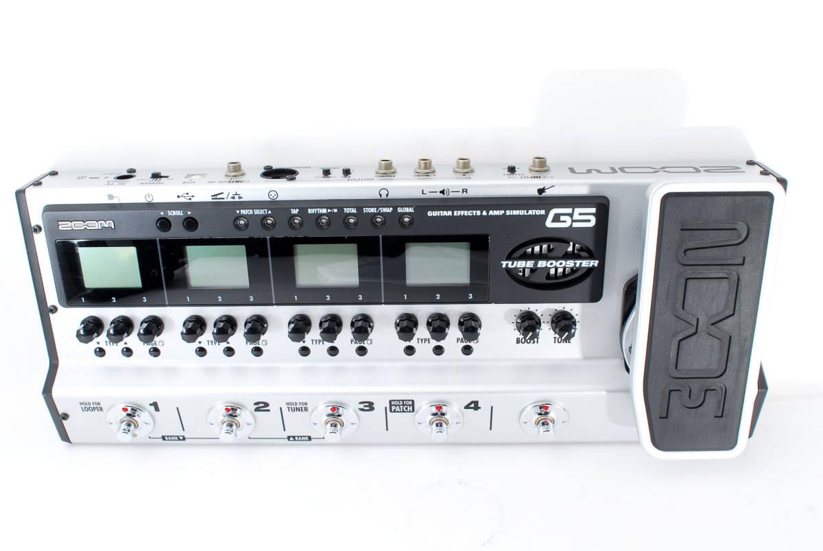 Zoom ズーム G5 Guitar Multi & Amp Simulator ACアダプタ ボックス付 [美品] #708916_画像7