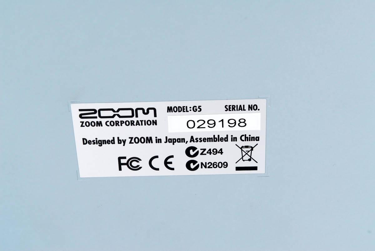 Zoom ズーム G5 Guitar Multi & Amp Simulator ACアダプタ ボックス付 [美品] #708916_画像9