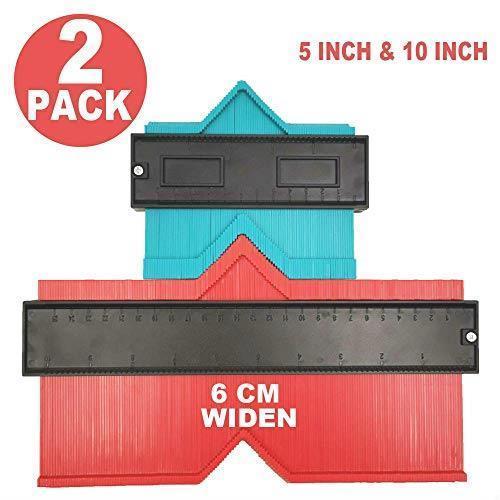 未使用品= Erayco 2パック 型取りゲージ コンターゲージ 測定ゲージ 測定工具 不規則 曲線定規 目盛付き 高精度 (250cm & 120cm)_画像1