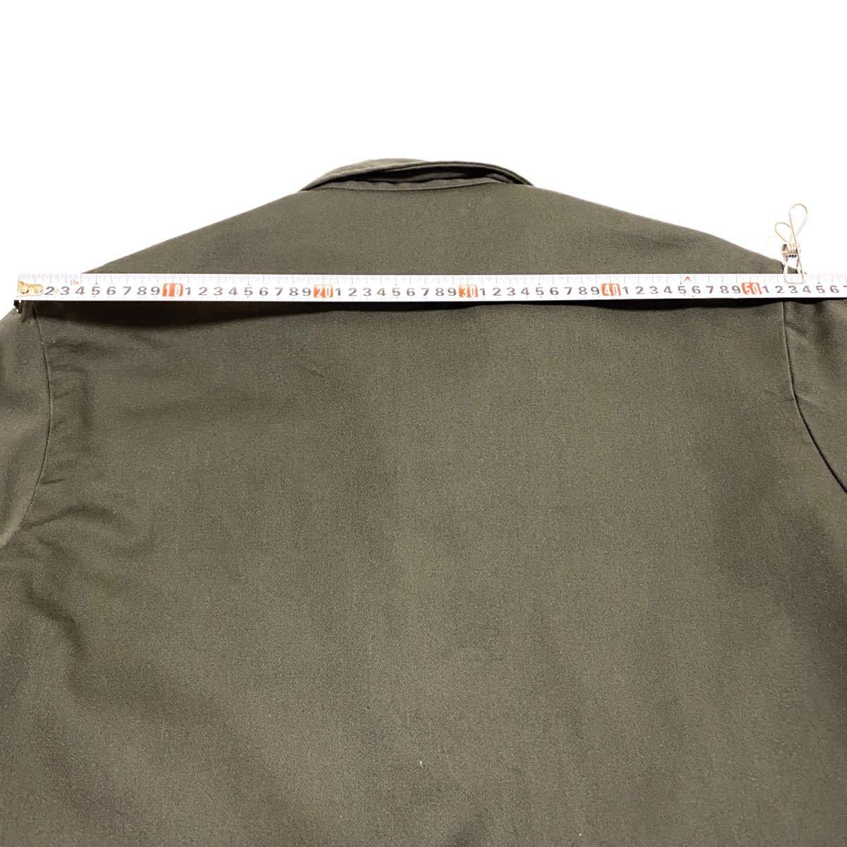 XL相当 70s BIG MAC ビッグマック メンズ ワークジャケット 涙タロン ロケットタロン カーキ 緑系 ビンテージ アメリカ古着_画像8