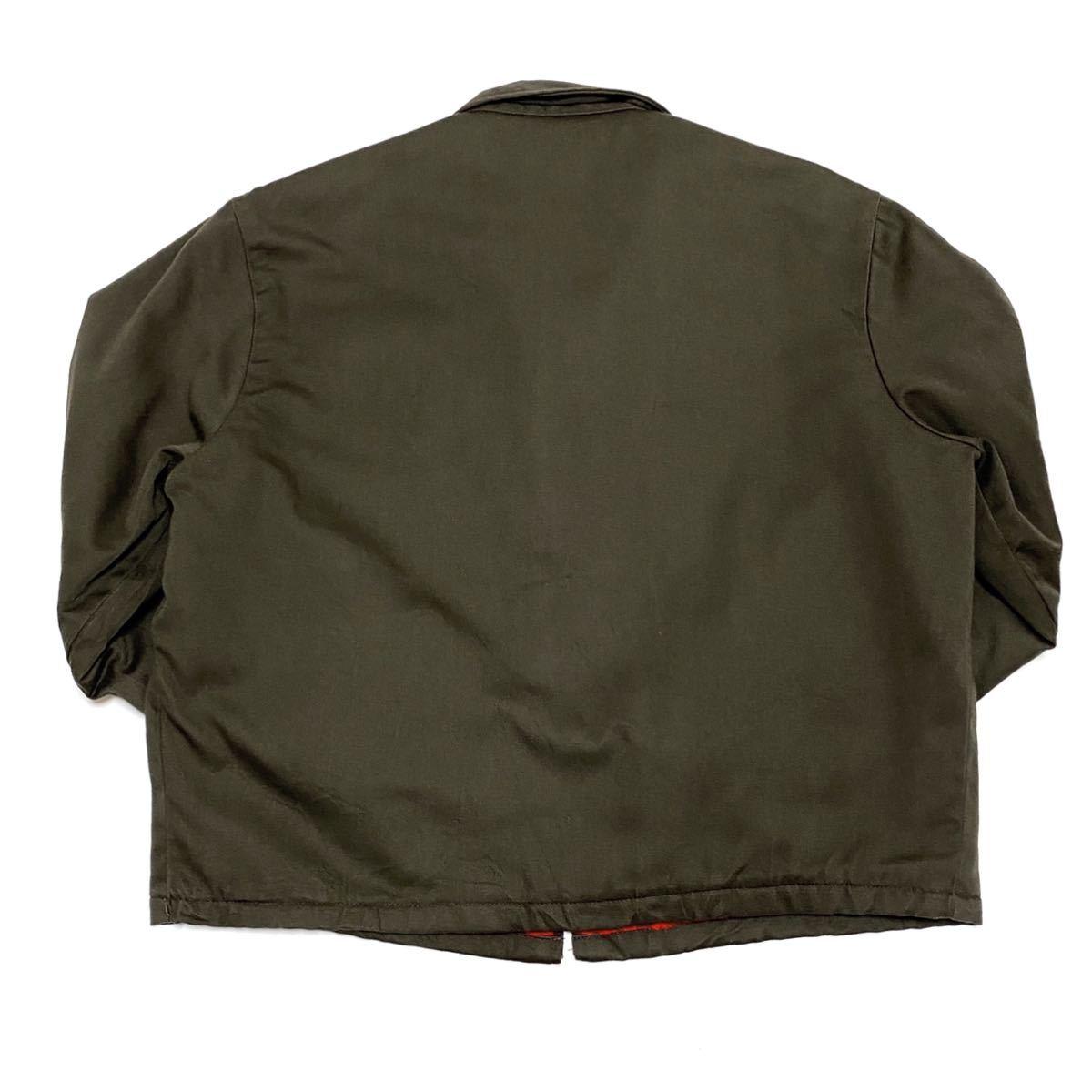 XL相当 70s BIG MAC ビッグマック メンズ ワークジャケット 涙タロン ロケットタロン カーキ 緑系 ビンテージ アメリカ古着_画像9