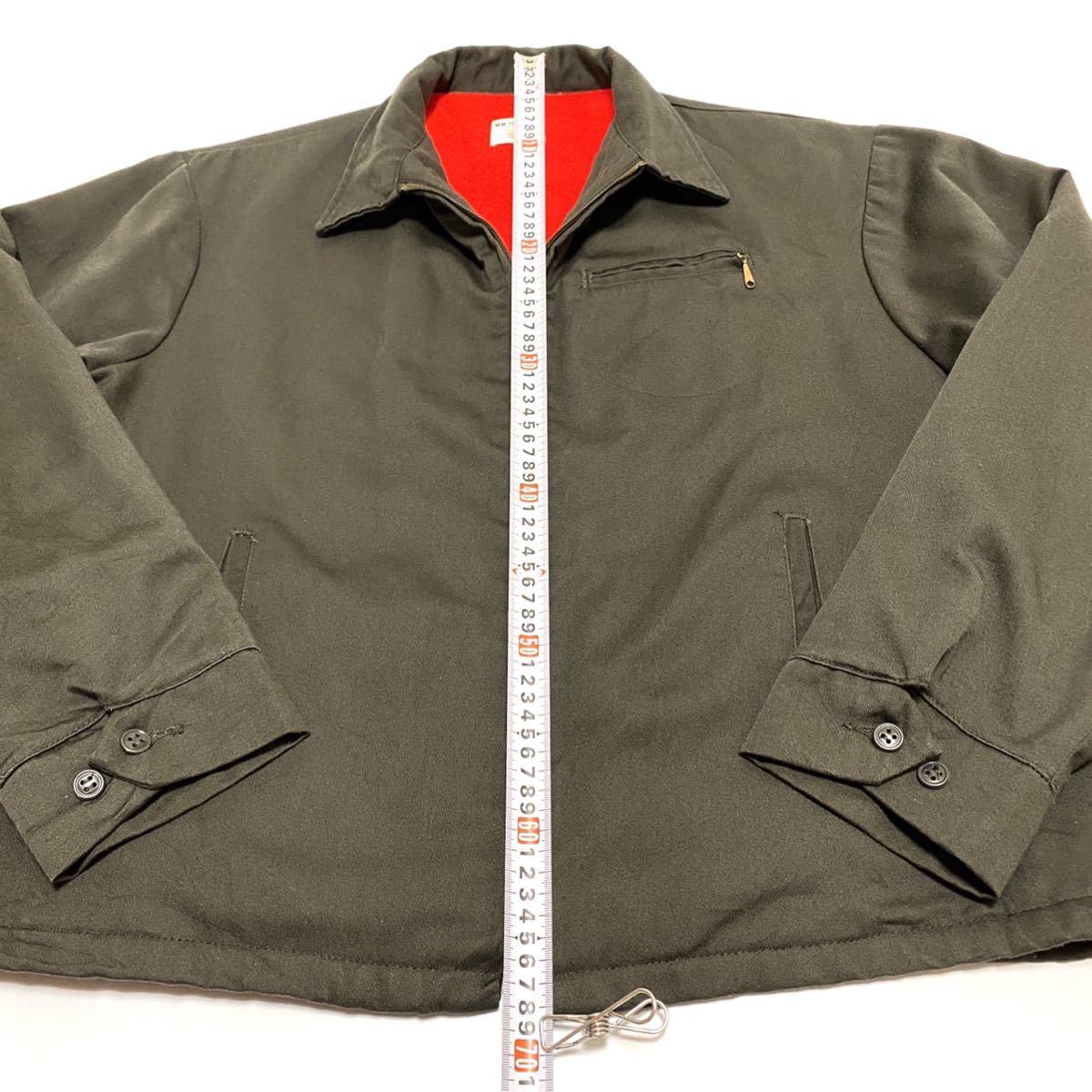 XL相当 70s BIG MAC ビッグマック メンズ ワークジャケット 涙タロン ロケットタロン カーキ 緑系 ビンテージ アメリカ古着_画像4
