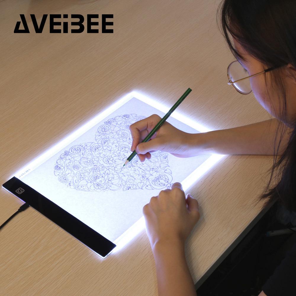 LEDトレース台☆アート用品 画材 スケッチ 絵画 イラスト 写し絵 ライトボックス ライトテーブル グラフィック ステンシル 製図 薄型 RU610_画像1