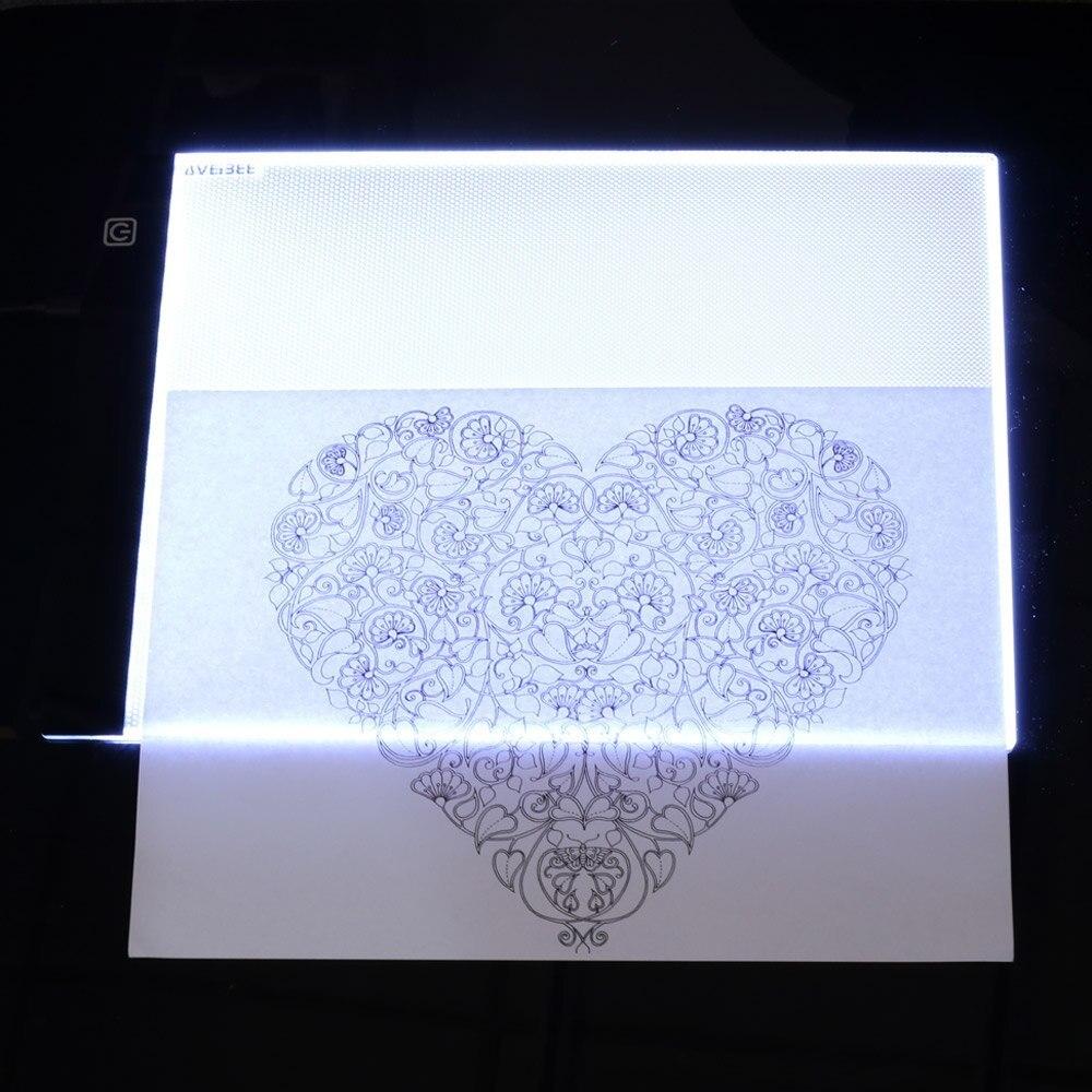 LEDトレース台☆アート用品 画材 スケッチ 絵画 イラスト 写し絵 ライトボックス ライトテーブル グラフィック ステンシル 製図 薄型 RU610_画像5