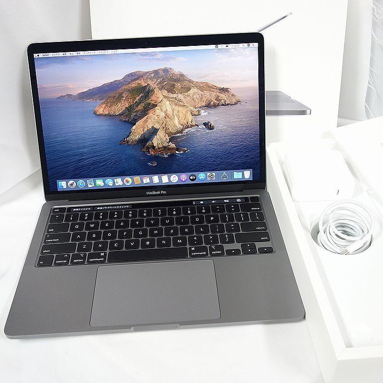 美品 **アップル保証残あり** MacBook Pro 2020年 13インチ Core i7 16GB 512GB USキー グレー 箱、充電器付属 【k1130-1630】_画像1