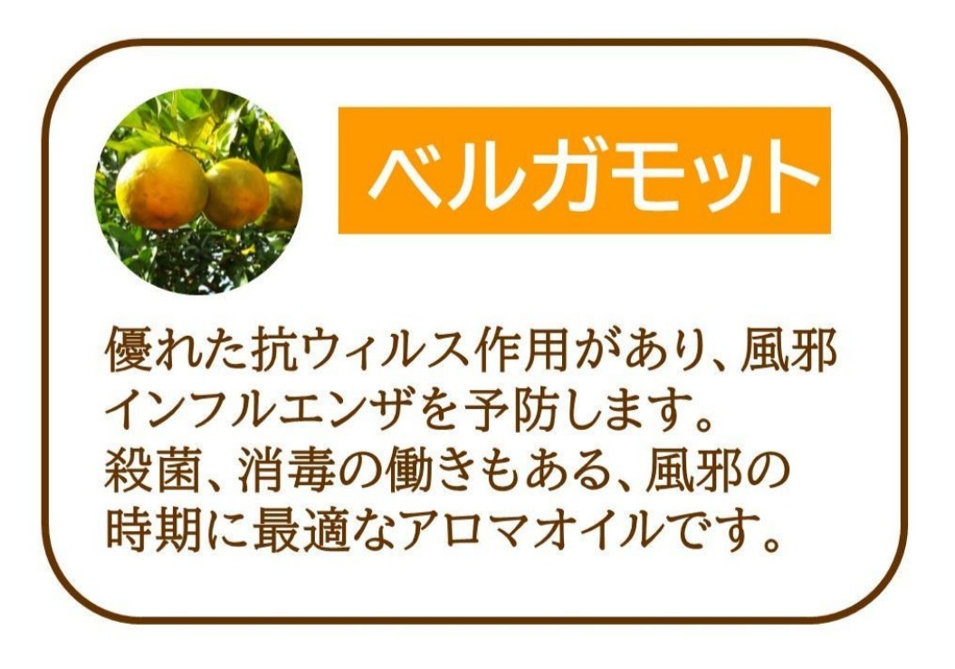 【アロマオイル   ベルガモットカラブリアン】精油100% 5ml