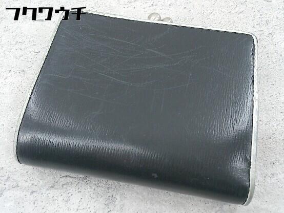 ◇ agnes b. アニエスベー がま口 二つ折り 財布 ウォレット ブラック レディース_画像2