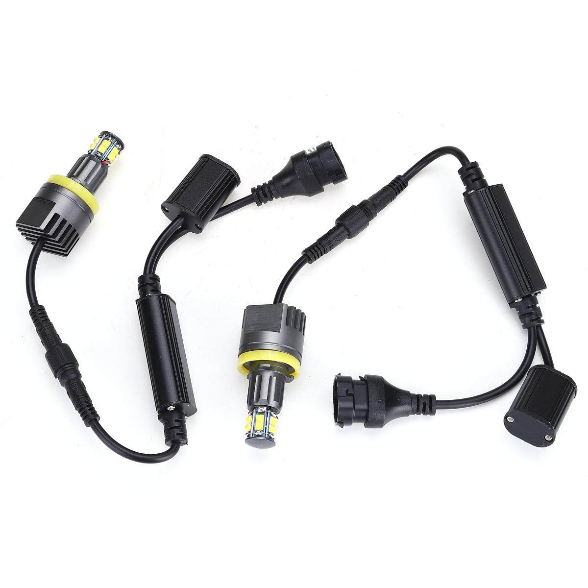 2 × 120 ワットH8 LEDエンジェル アイズフォグランプ ヘッドライトCANBUS BMW E60 E61 E63 X5 E70 X6 E71 E90 E91 E92 E93 M3 E89 E_画像4