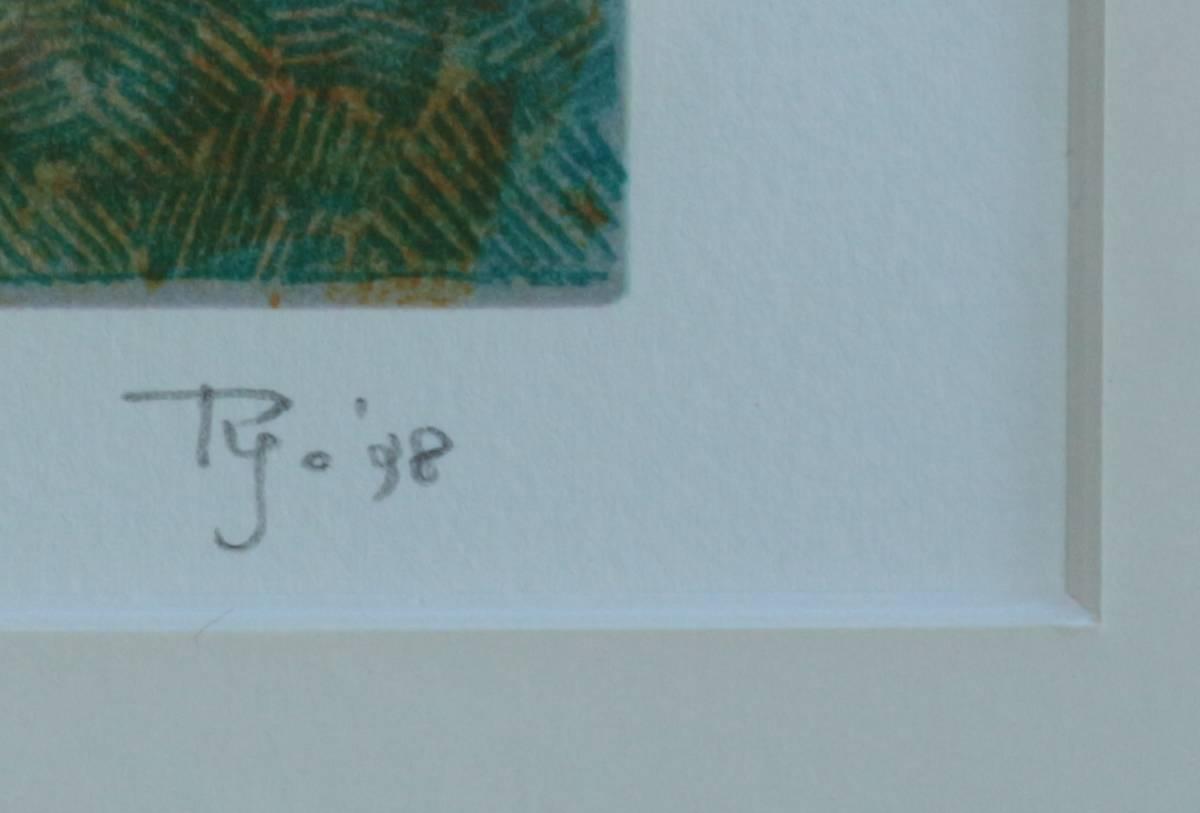 リトグラフ 中西良 「花」_画像3