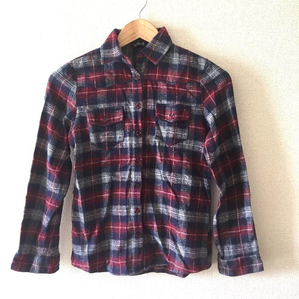 ネルシャツ チェック柄 長袖シャツ チェックシャツ