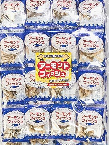 送料無料・ e-hiroya 無添加 小袋 アーモンドフィッシュ 100袋 お徳用パック 給食用 国産 小魚 チャック袋入り…_画像1