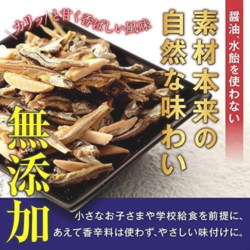 送料無料・ e-hiroya 無添加 小袋 アーモンドフィッシュ 100袋 お徳用パック 給食用 国産 小魚 チャック袋入り…_画像2