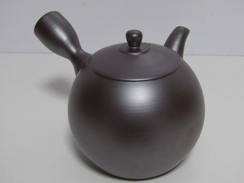 L29-583[SAN] 未使用 萬古焼 伊藤美月 造 茶器揃 共箱 横手急須 湯冷まし 煎茶碗5客 煎茶道具_画像3