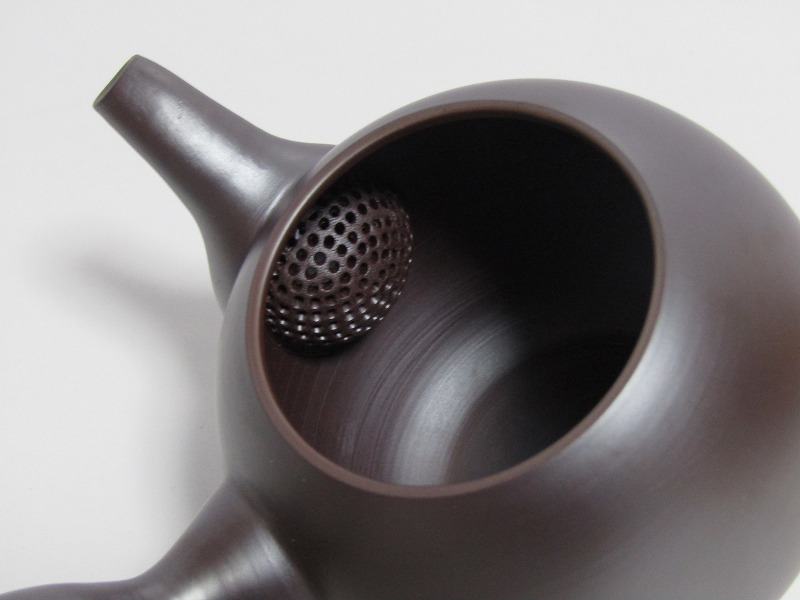 L29-583[SAN] 未使用 萬古焼 伊藤美月 造 茶器揃 共箱 横手急須 湯冷まし 煎茶碗5客 煎茶道具_画像5