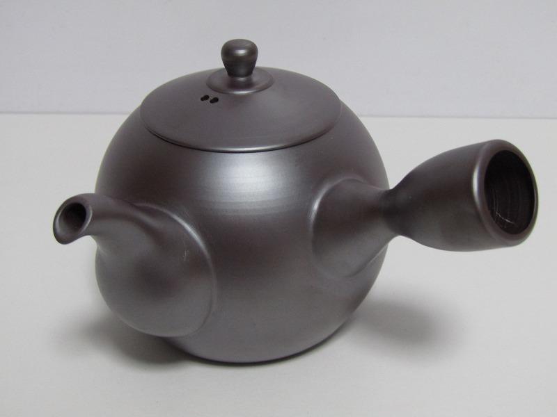 L29-583[SAN] 未使用 萬古焼 伊藤美月 造 茶器揃 共箱 横手急須 湯冷まし 煎茶碗5客 煎茶道具_画像2