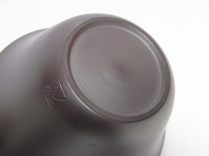L29-583[SAN] 未使用 萬古焼 伊藤美月 造 茶器揃 共箱 横手急須 湯冷まし 煎茶碗5客 煎茶道具_画像10