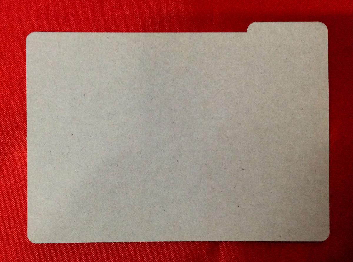 高機動幻想ガンパレードマーチ トレーディングカードゲーム -VERSION1.00- 仕切りカード 非売品 当時モノ 希少 A2399_画像2
